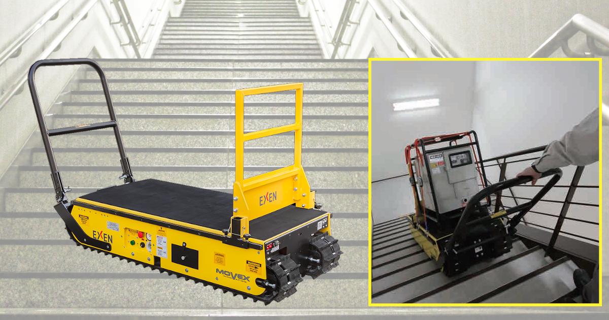 クローラ階段運搬台車(バッテリー式) | 株式会社レント