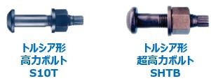 トルシア形高力ボルトS10T、トルシア形超高力ボルトSHTB